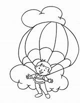 Parachute Coloring Clipart Colouring Library Popular Designlooter Parachuting sketch template