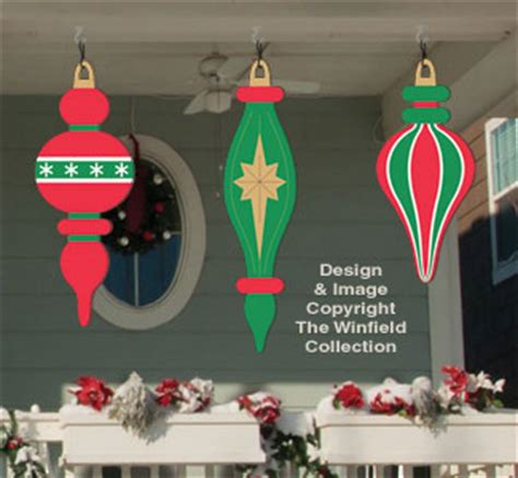 holiday signs giant ornaments  woodcraft pattern