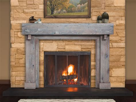Foyer Bois by Reclaimed Wood Mantels For A Rustic Or Antique Fireplace