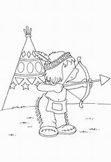 Bow Coloring Arrow Indian Shopkins sketch template