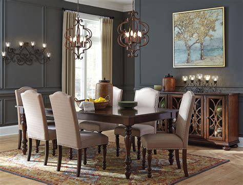 baxenburg brown extendable rectangular dining room set