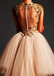 Gold Cream Wedding Dress
