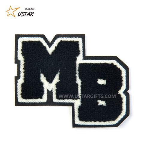 custom  felt patches embroidery  chenille letters