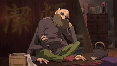 Spirited Away Kamaji Sleeping Ghibli Studio Anime