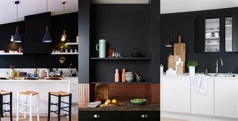 mur noir cuisine un mur noir dans la cuisine les brindilles inspirations déco