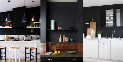 mur noir cuisine mur noir cuisine top awesome sansdfaut carrelage mural