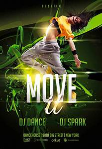 freepsdflyer download move it dance event free psd flyer With dance flyers templates free