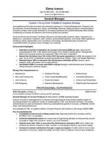 high level management resume telecom executive resume sle