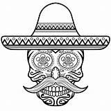 Sombrero Skull Coloring Sugar Pages Para Colorear Con Calavera Dibujo Printable Skulls Drawing Drawings Supercoloring Animal Crafts Imprimir Paper Visit sketch template