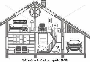 House interior silhouette. vector illustration eps vectors ...