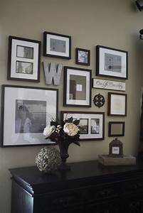 Wall decor and photo frames : Project home frame wall