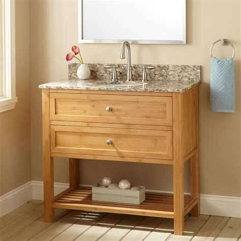Narrow Bathroom Sinks And Vanities by Bamboo Vanity Cabinet Solid Bamboo Bathroom Vanity Bamboo
