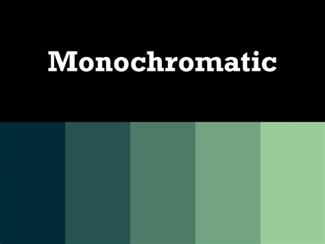monochromatic palette home design