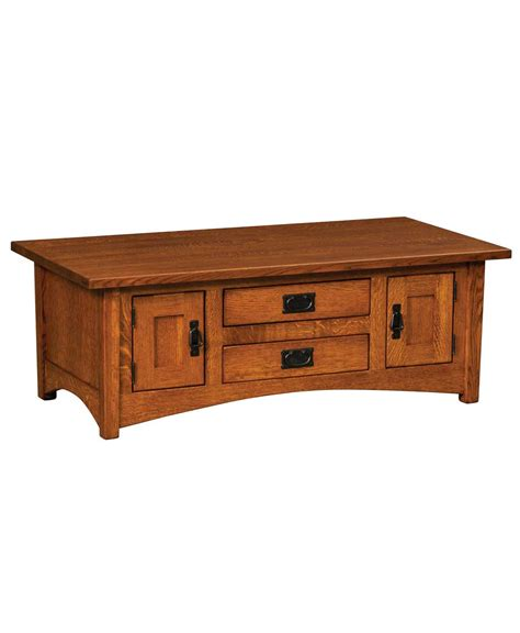 arts and crafts coffee table arts and crafts coffee table amish direct furniture