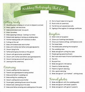 shot list template 10 download free documents in word pdf With wedding photography shot list