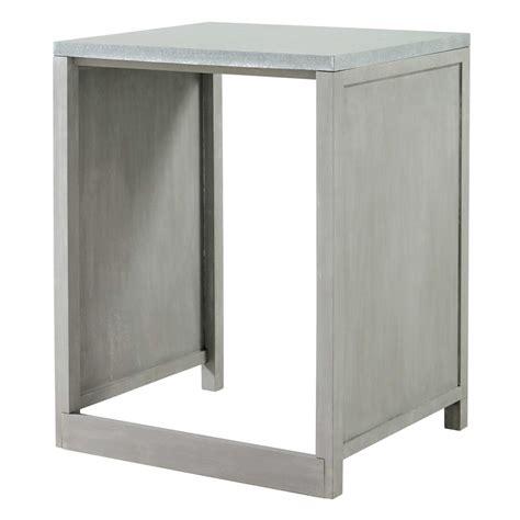 plan de travail en zinc pour cuisine meuble de cuisine en hévéa pour lave vaisselle l 66 cm