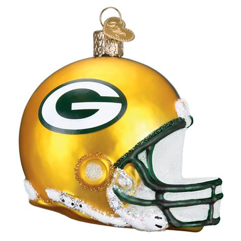 green bay packers helmet   world christmas ornament