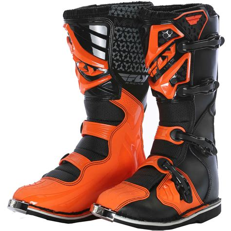 orange motocross boots fly racing 2016 youth maverik mx boots enduro motocross