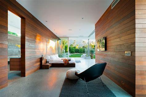 chambre d architecte luxueuse maison de plain pied à indian en californie