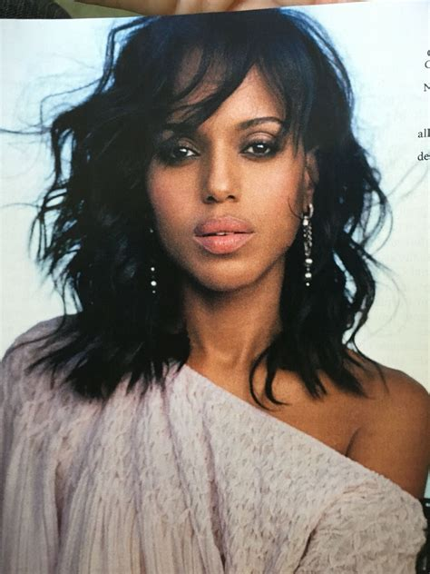 Images Of Black Hairstyles With Bangs by Kerry Washington S Wavy Bangs Are Everything