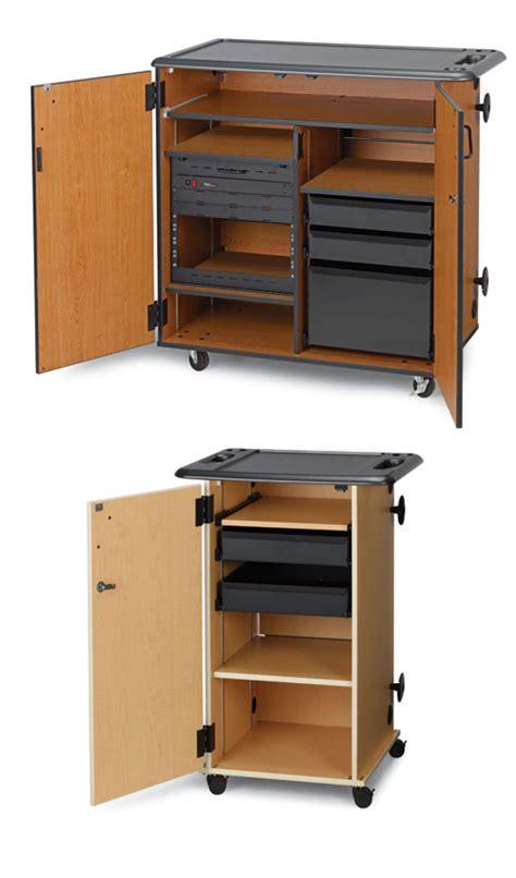 audio video storage cabinet mobile media storage cabinets wenger corporation