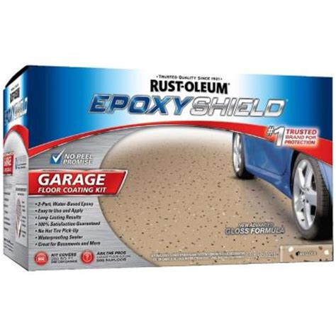 rustoleum garage floor kit home depot rust oleum epoxyshield 1 gal garage floor epoxy