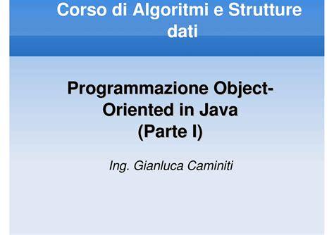 dispense java java programmazione object oriented dispense