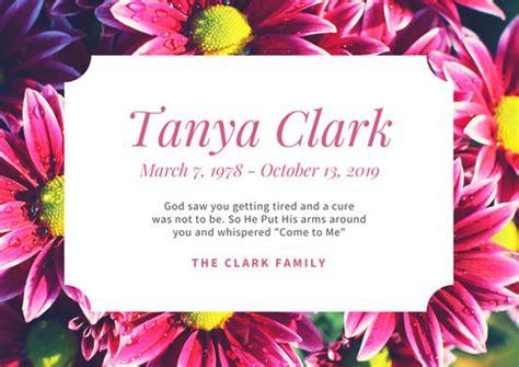 black simple border photo obituary card templates  canva