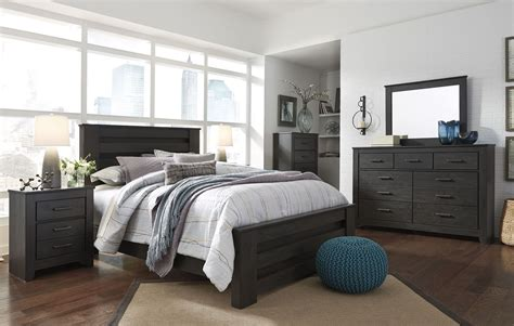 black poster bedroom set brinxton black poster bedroom set b249 67 64 98