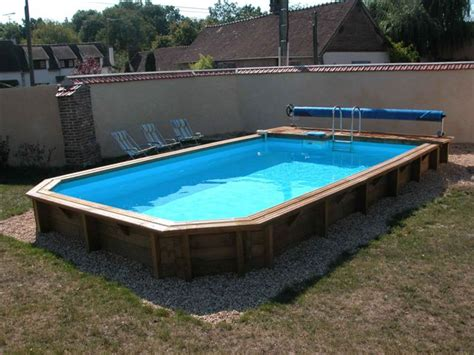 photo piscine bois enterrer