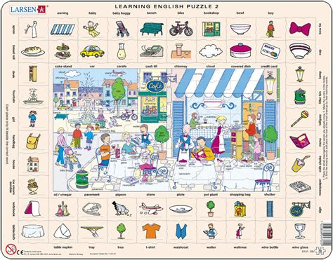 apprendre la cuisine puzzle cadre apprendre l 39 anglais 2 le restaurant et la ville en anglais larsen en2 70