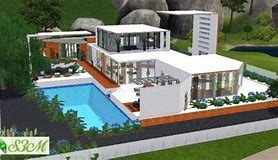 Beautiful Maison Moderne De Luxe Sims 3 Gallery - Bikeparty.us ...