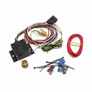 Black Adjustable Electric Cooling Fan Controller Wiring