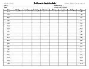 best photos of daily activity planner template daily With weekly activity planner template
