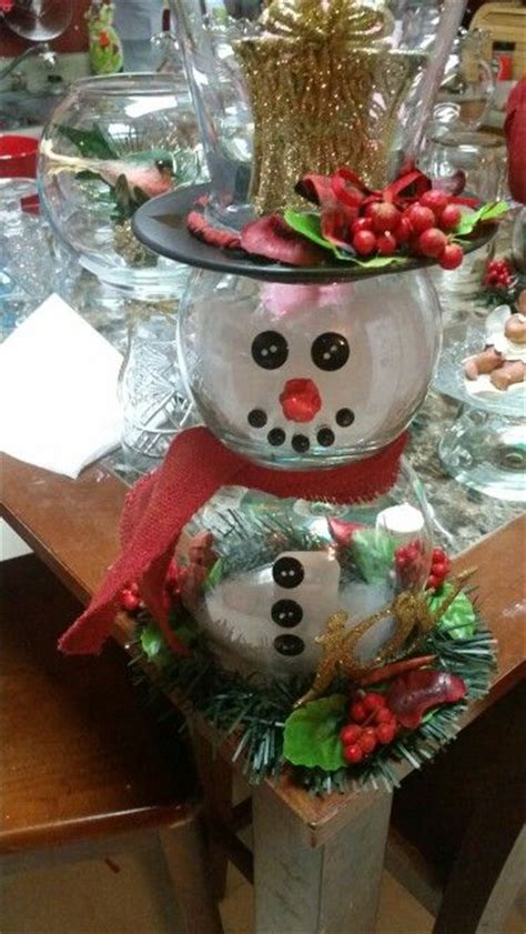 glass bowl snowman great diy gift adoren designs