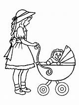 Coloring Pages Doll Baby Dolls Colouring Pram Popular Bre sketch template