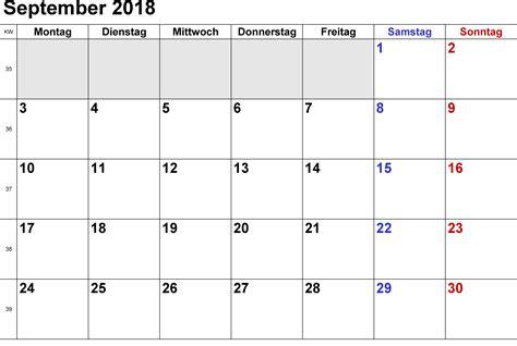september  kalender druckbar