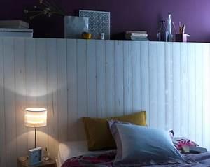 lambris bois ou pvc une deco murale top tendance With couleur gris clair peinture 19 pochoir nuage pour deco murale