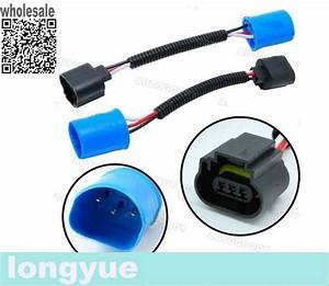 Longyue 2pcs 9007  Hb5 To H13 Headlight Pigtail Connector