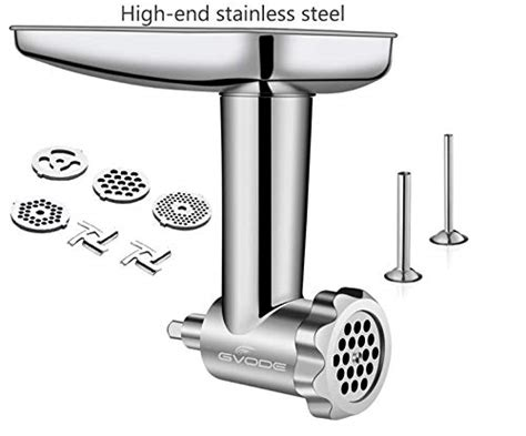 stand dishwasher stainless steel safe grinder attachment mixers kitchenaid including meat sausage stuffer durable processor attachments gvode mixer