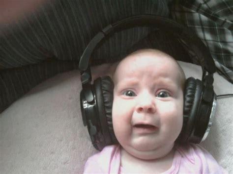 Baby Headphones Meme - irti funny picture 2018 tags kid baby shocked headphones babby
