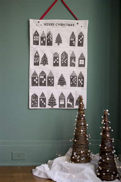 midnight christmas village diy advent activity calendar