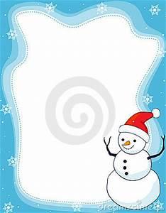 Snowman Border Clip Art Winter Snowflakes Clipart ...