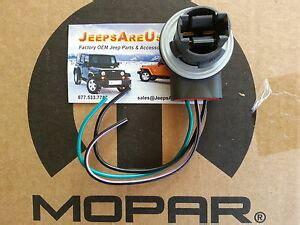 jeep wrangler tj front turn signal bulb socket with pigtail wiring mopar ebay