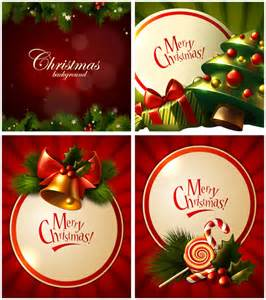 merry greeting cards vector set 2 vector graphics