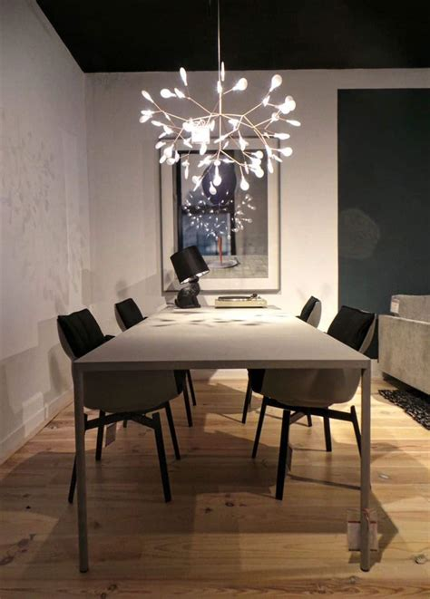 Dining Room With Contemporary Ceiling Lighting