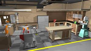 Garage/Shop corner L-shape workbench design - Woodworking ...
