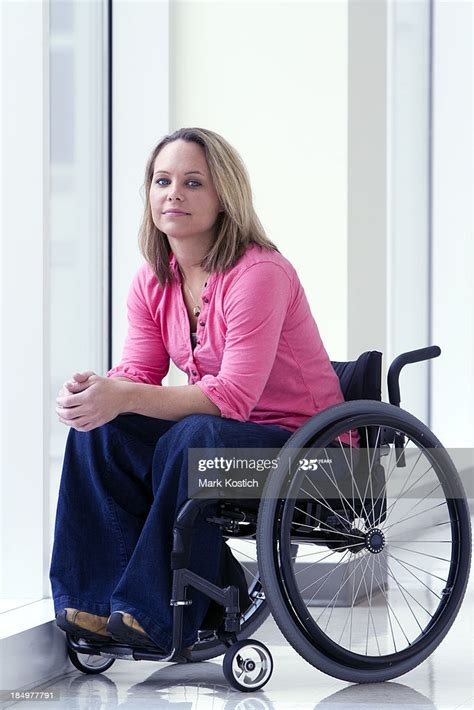 Beautiful Woman In Wheelchair Smiling High-Res Stock Photo ...