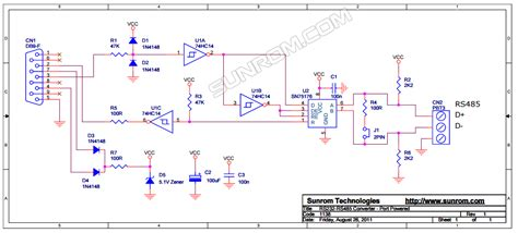 pcb for rs485 to rs232 convertor 3877 sunrom electronics technologies