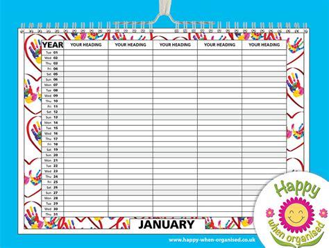 family organiser calendar standard